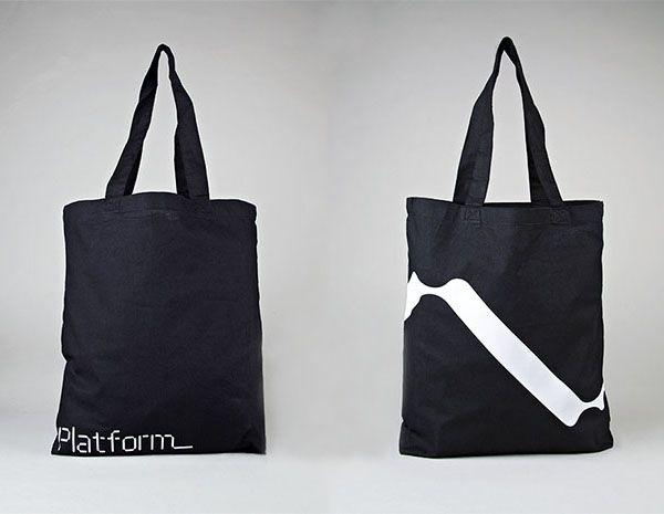 Logo and tote bag designed by Pentagram for not-for-profit, technology and entrepreneurship organisation Platform