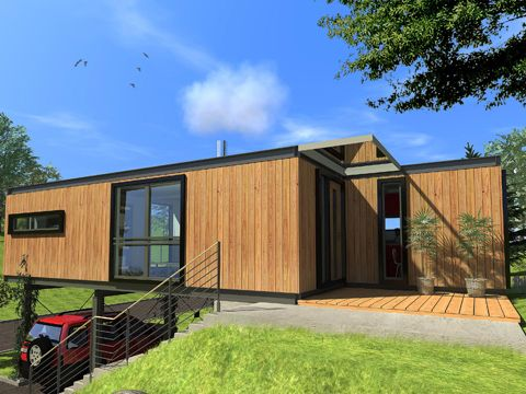 214 best images about casas prefabricadas on pinterest prefabricated home guadalajara and - Hive modular x line container home in canada ...
