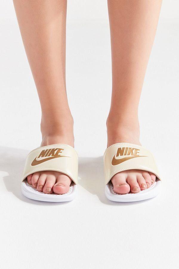 462b5bd10a897 Slide View  2  Nike Benassi JDI Metallic Slide Sandal