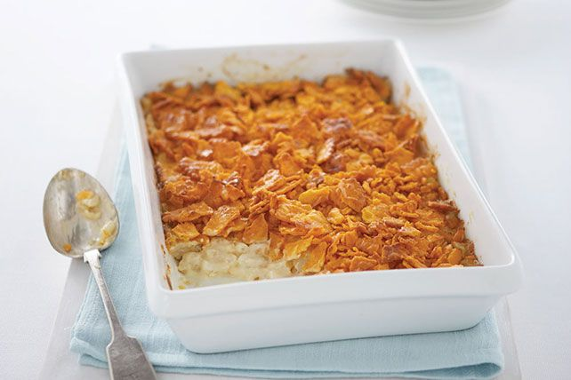 This step-by-step video shows you how to make Classic Cheesy Potatoes—starting with hash browns and sour cream and ending with a cracker-crumb topping.