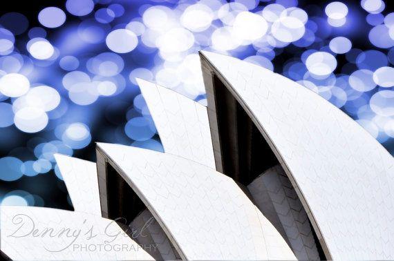 Sydney Opera House sails - abstract