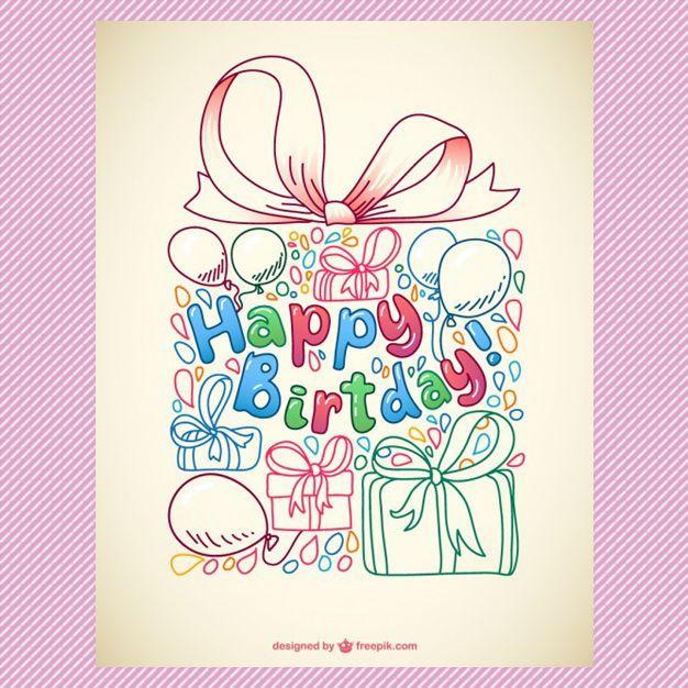 17 parasta ideaa Birthday Card Template Pinterestissä - birthday greetings template