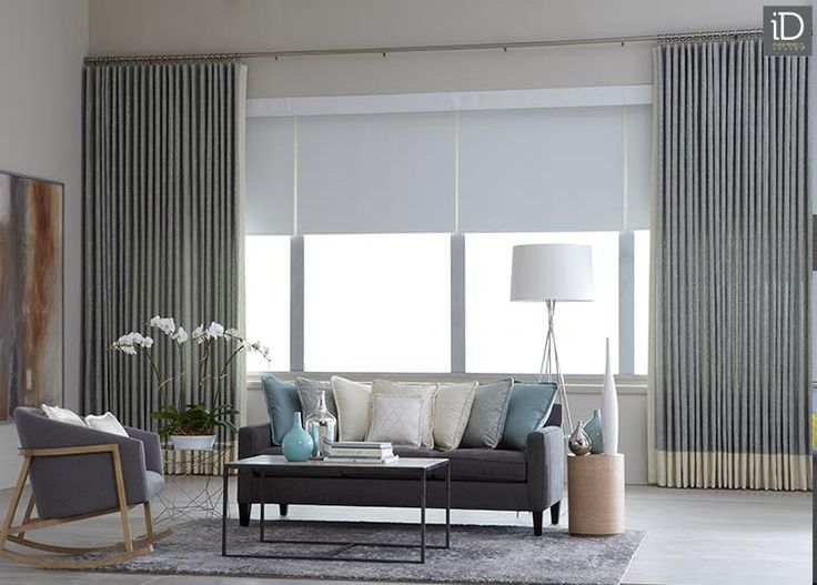 Layer Large Windows With Simple Shades And Add Texture