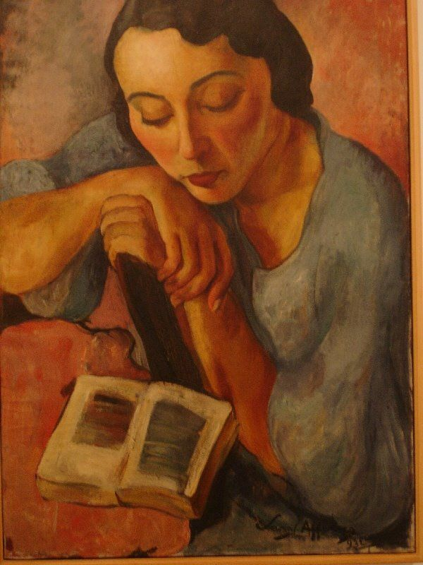 Retrado de Matilde (1932). Sarah Affonso (Portuguese, 1899-1983). Oil on canvas. Centro de Arte Moderna, Lisbon.