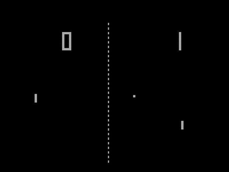Pong - All the excitement of video gaming without all those pesky graphics and controller buttons ....