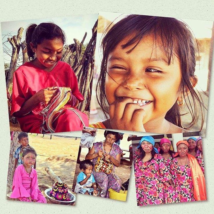 Wayuu women!  Beautiful and powerful women from La Guajira, Colombia…