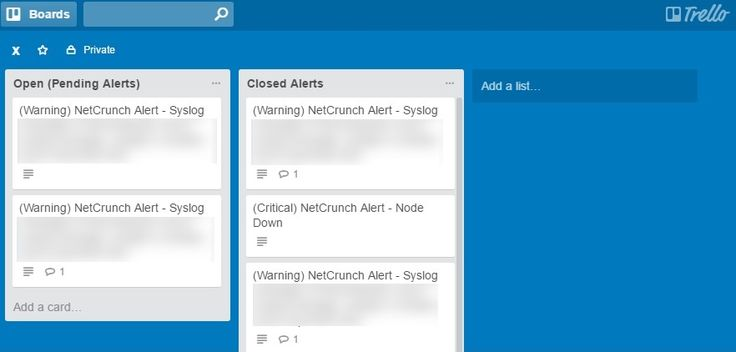 Turn NetCrunch network monitoring messages into #Trello cards  http://bit.ly/2aLSGnx  One of the newest features of NetCrunch is integration with external service providers. This article will show you how you can integrate NetCrunch with Trello board so that NetCrunch messages become cards in specific lists. #SysAdmin #Tech #ITSM #DevOps #DataViz #BigData #IT