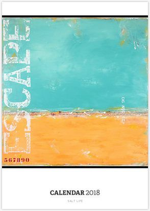 """Salt Life"" Calendar of coastal abstract art by Sabina D'Antonio"