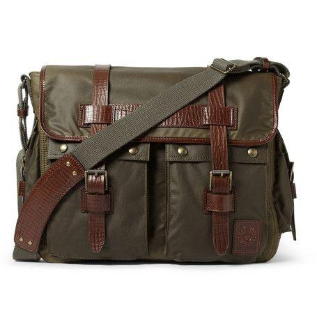#Belstaff Bromfield Waxed-Cotton Messenger Bag