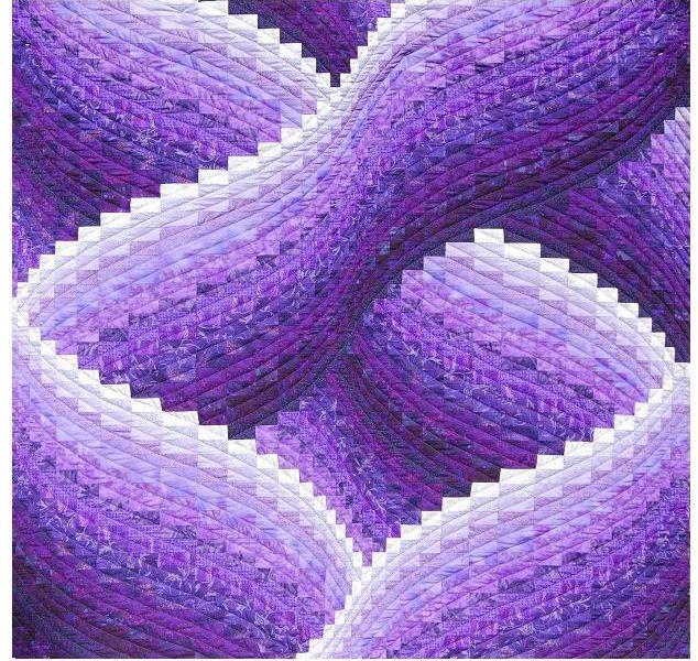 Beautiful Purple Twisted Bargello