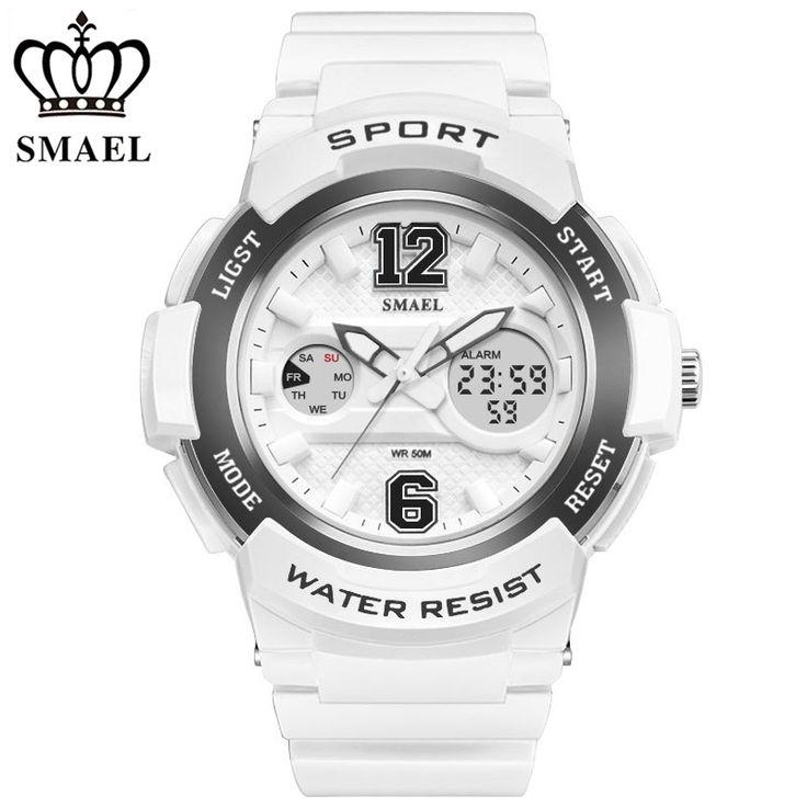 SMAEL Women Watches Top Brand Luxury Quartz Watch Men's Sport Children Digital Watch Shock Resistant Dual Display Wristwatches //Price: $23.99 & FREE Shipping //     #hashtag4