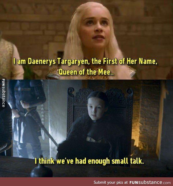 Lyanna Mormont is tired of your bullshit