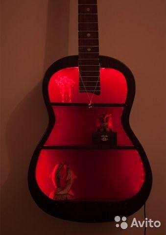 """Этажерка """"Гитара"""" с подсветкой — фотография №1"""