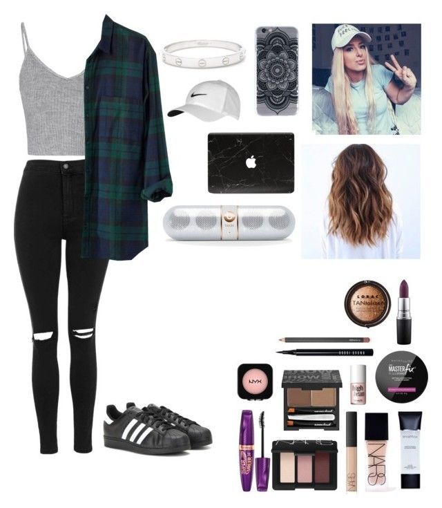 """""""Hanging w/ Tana Mongeau"""" by boysblogsandbeds ❤ liked on Polyvore featuring Glamorous, Topshop, adidas, Madewell, Cartier, Smashbox, NARS Cosmetics, Maybelline, Benefit and Bobbi Brown Cosmetics"""