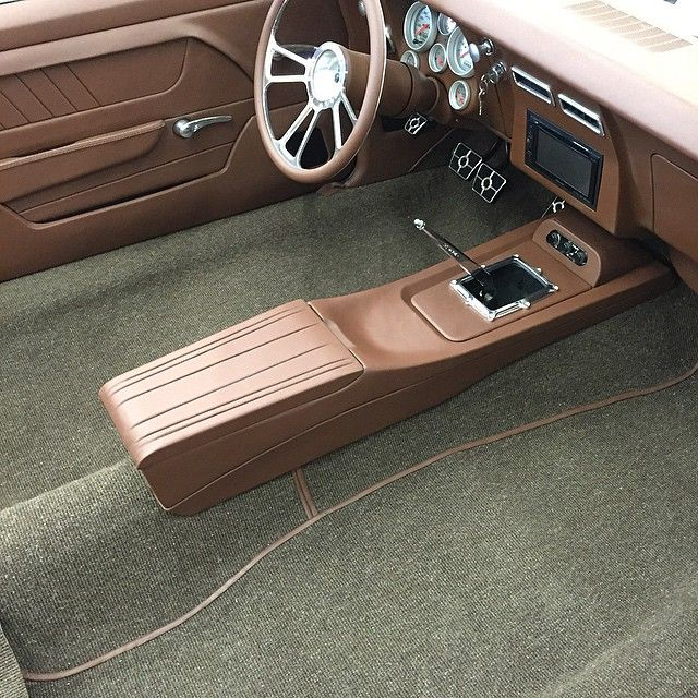 bux customs Center console custom brown pro touring