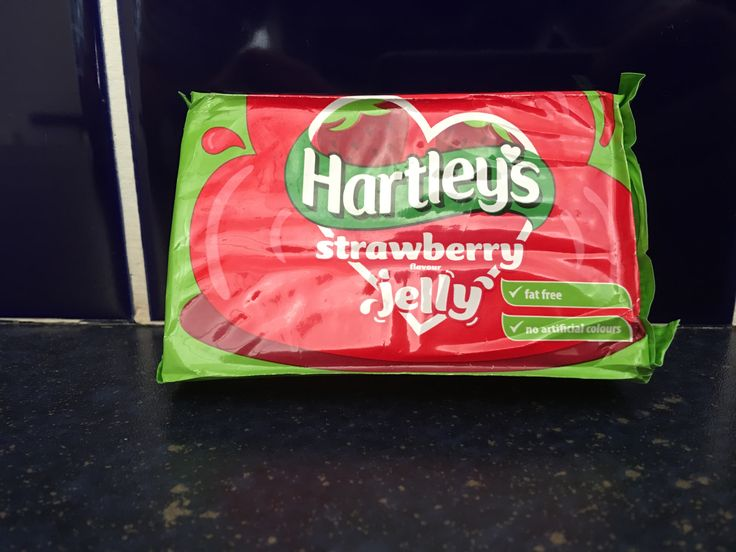 Hartley's Strawberry Flavour Jelly. Made in the UK by an American owned company.