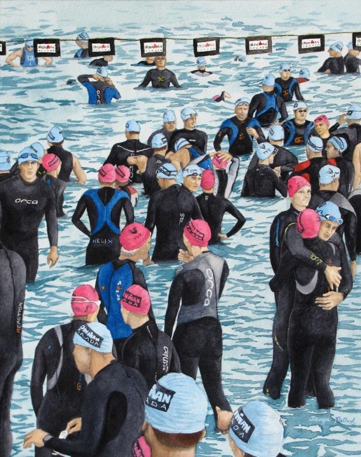 Preparing For The Swim, by Tanya Petruk, Watercolour, 11X14, $395.00