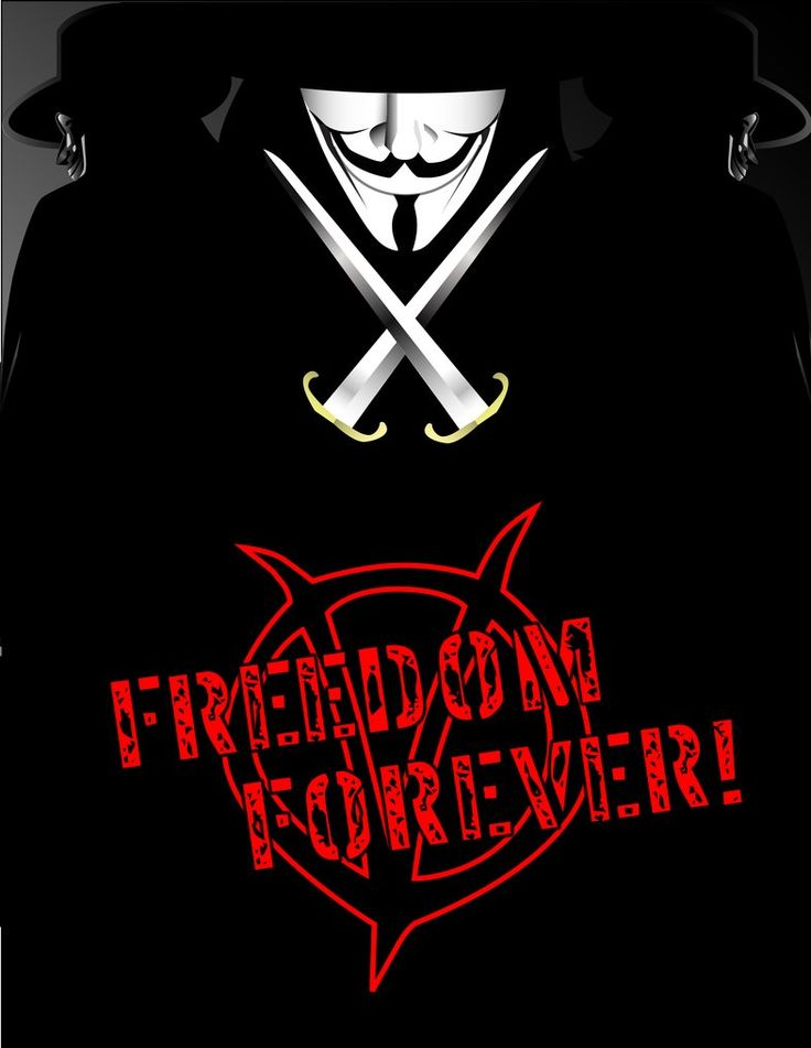 """Another piece with V from the graphic novel/film """"V From Vendetta"""" as the subject. This was again made entirely in Illustrator, with the slight exception of the text which was added in Photoshop. """"..."""