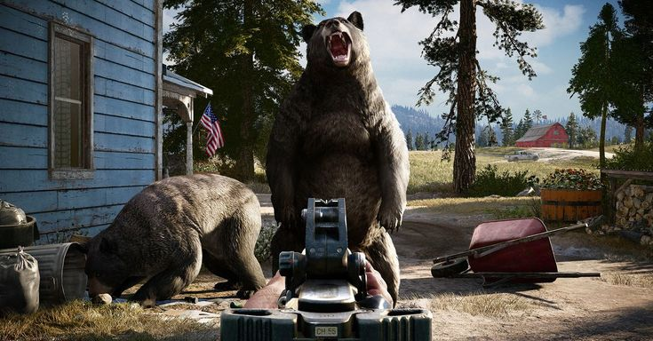 We saw a bear take on a bull in Far Cry 5