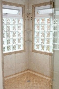 Glass Block Windows In Shower Design Ideas, Pictures, Remodel, and Decor