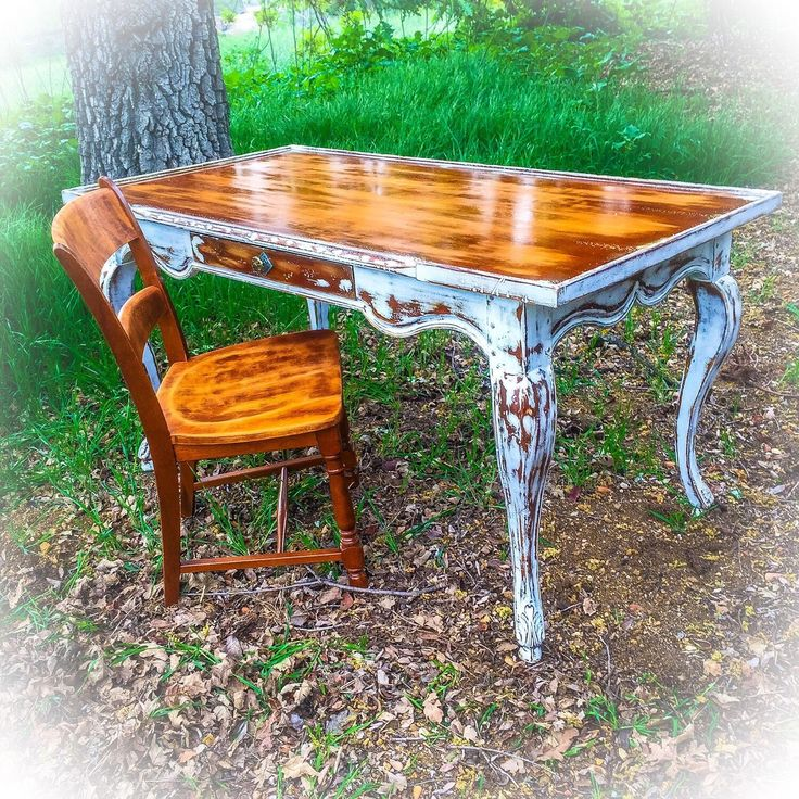 A personal favorite from my Etsy shop https://www.etsy.com/listing/273936380/5-long-antique-desk-w-matching-chair