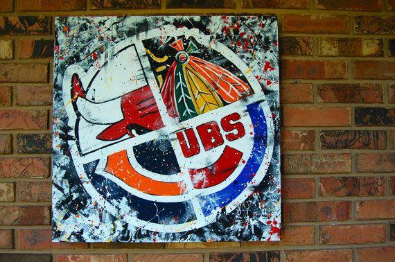 Chicago Artwork 24x24 Artist originals by CarolWoldhuisInvites