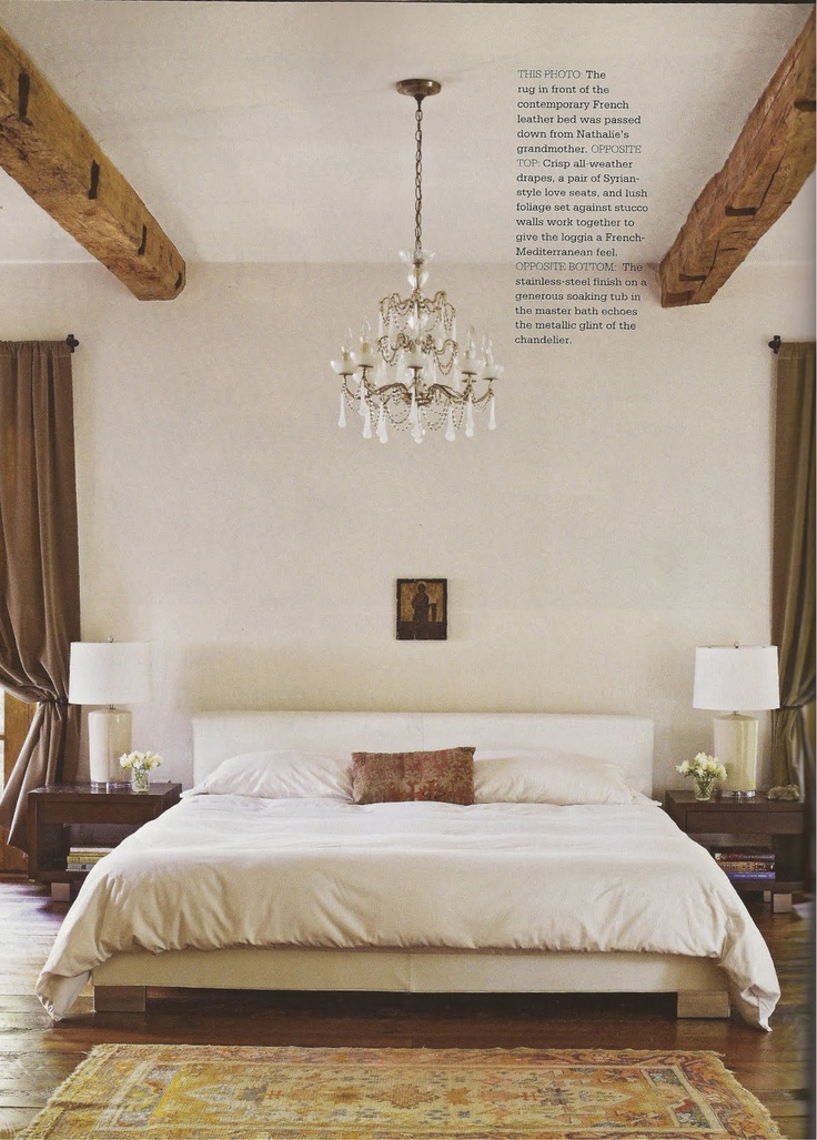 understated French bedroom