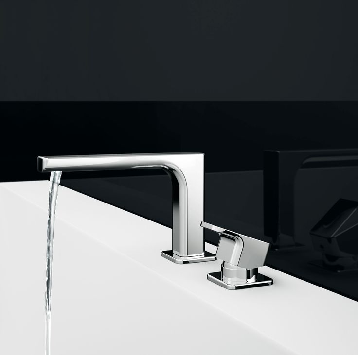 Deck-mounted bath mixer, Chrome finishing