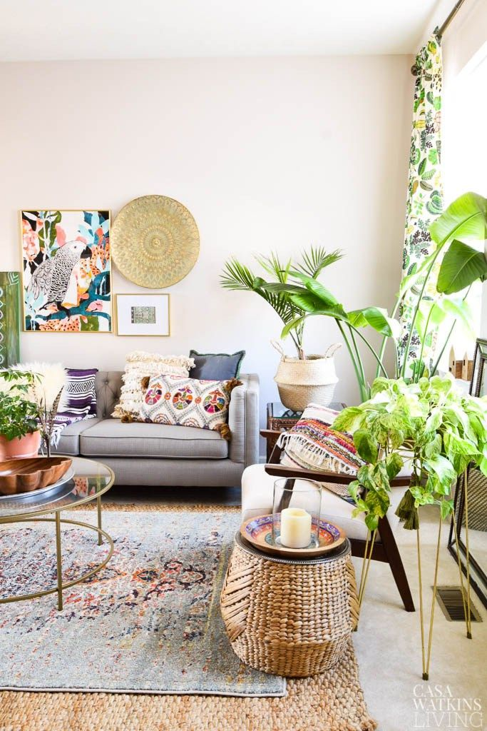 Spring Global Style Home Tour Global Home Decor Style Cozy Eclectic Living Room Decor
