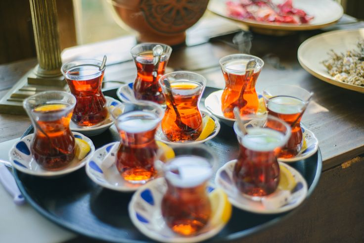 A good Turkish Tea while cooking@erenler-sofrasi.com