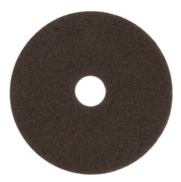 7100 16IN BROWN STRIPER.  For wet or dry stripping. Prepares floors for recoating. Quickly and easily cuts through old finish. Conforms to uneven floors.     - Harga per pads.  http://tigaem.com/floor-care/389-s-b-51-16in-brown-striper-5-pads-case.html  #brownstripper #poleslantai #3M