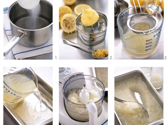 Erfrischendes Zitronensorbet ist ein Rezept mit frischen Zutaten aus der Kategorie Südfrucht. Probieren Sie dieses und weitere Rezepte von EAT SMARTER!