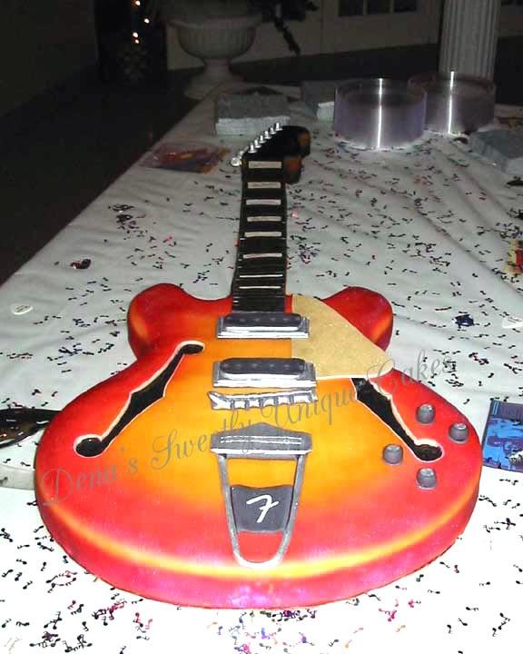 Awesome Guitar Cake