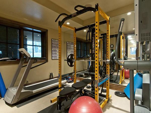 Yellow powertec rack stands out doesn t it home gym