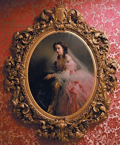 Portrait of Anna of Hesse, born Princess of Prussia 1858 by Winterhalter