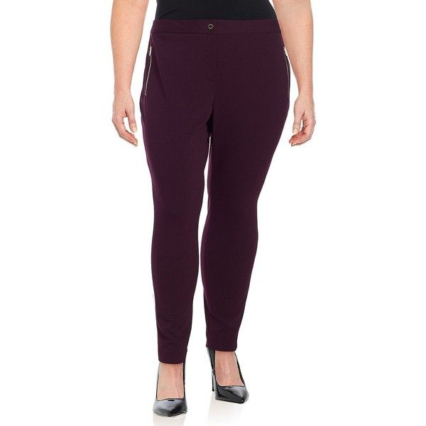 Calvin Klein Women's Plus Activewear Pants ($79) ❤ liked on Polyvore featuring plus size women's fashion, plus size clothing, plus size activewear, plus size activewear pants, aubergine, calvin klein sportswear, calvin klein and calvin klein activewear