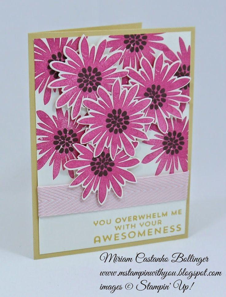 carte Stampin Up Flower Patch par Kristi www