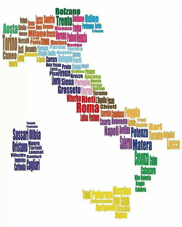 L'Italia in una mappa... #dilloinitaliano