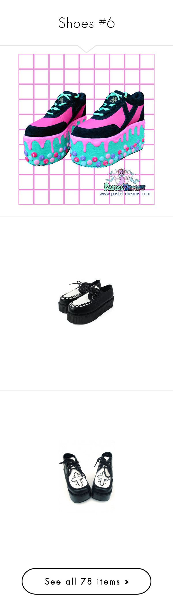 """""""Shoes #6"""" by headbangingunicorn ❤ liked on Polyvore featuring shoes, flatform shoes, platform shoes, flatform platform shoes, creepers, boots, black metallic shoes, rock boots, rock shoes and metallic platform shoes"""