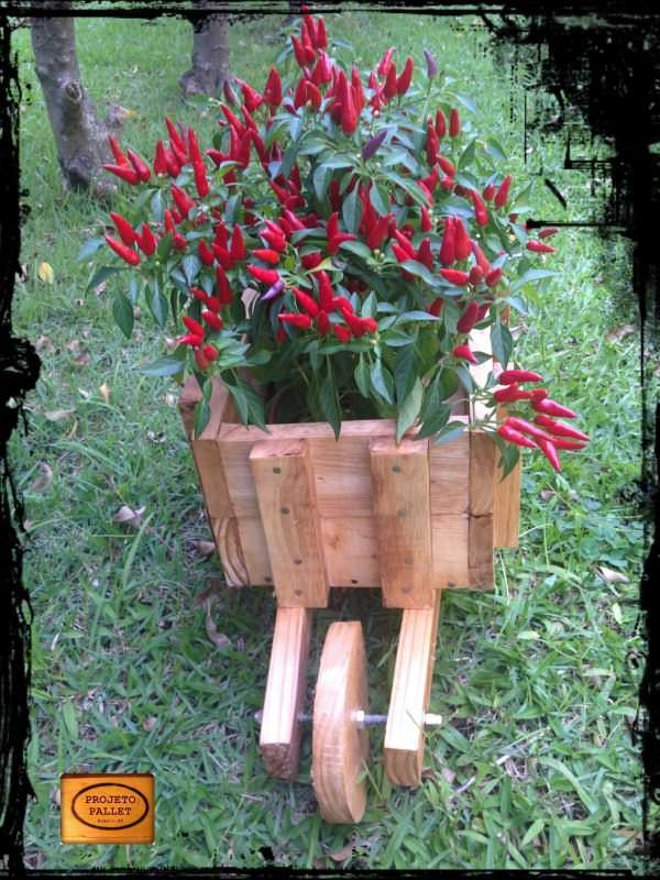 Pallet Wheelbarrow Planter Planters & Compost