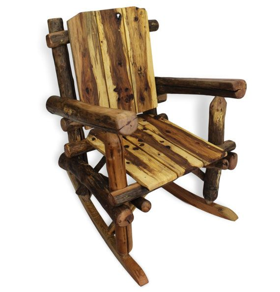 Rustic Rocking Chair Reclaimed Wood Rocking Chair By WoodzyShop. Rustikale  BlockmöbelMöbel ...