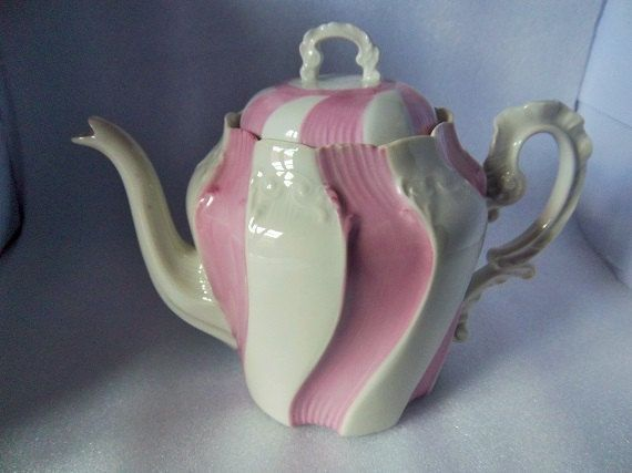 Limoges Teapot Old Teapot Coffee Pot Pink Signed Af