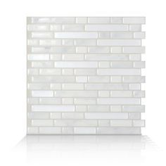 $9 Self-adhesive wall tiles. Because you can do it yourself. No cement, no grout, no specialized tools. Dimensions: 10.125