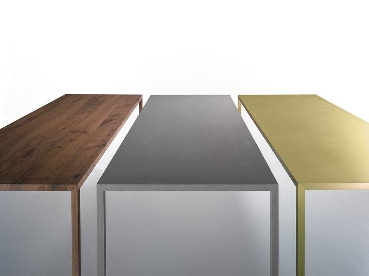 Rechteckiger Tisch aus Messing TENSE MATERIAL | Tisch aus Messing - MDF Italia