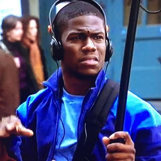 Young K Hart in Along Came Polly 😂😂😂😂😂where in the hell is my Mustache? I look like a babies ass....Why is there so much damn room in the top of my headphones 😂😂😂😂 #youngme #iwasdamnnearaextrainthismovie #godisgood #neverlostfaithorquestionedmygodsplanforme