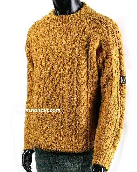 Мужской свитер с выразительными узорами - СХЕМА http://mslanavi.com/2018/01/muzhskoj-sviter-s-vyrazitelnymi-uzorami/