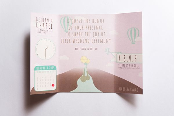Wedding. Invitation Card | for Mabel & Isaac. on Behance