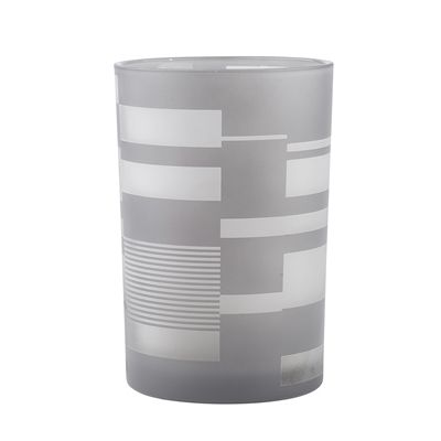 allen + roth Small Grey Glass Hurricane Candle Holder