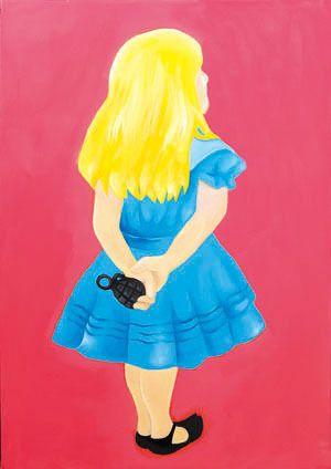 Alice form Alice's Adventures in Wonderland, oil on canvas, 72.2×50, 2013