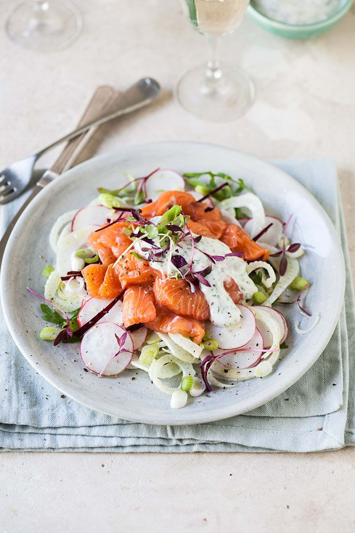 raw salmon salad with fennel, radish and beetroot & the beautiful tintswalo atlantic